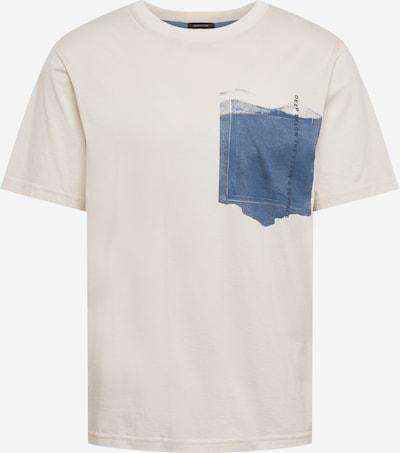 BOSS Casual T-Shirt in beige / dunkelblau, Produktansicht