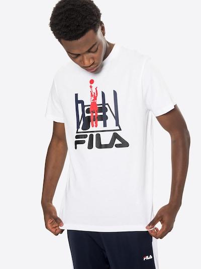 FILA Тениска 'Fico' в нощно синьо / червено / черно / бяло: Изглед отпред