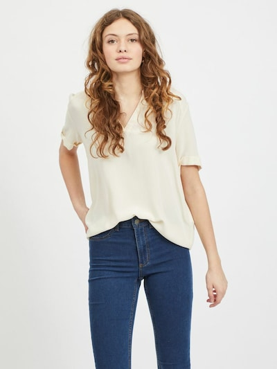 VILA Blouse 'VIMOAshly' in de kleur Crème, Modelweergave