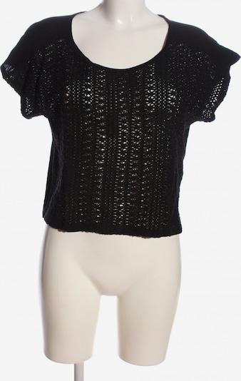 MANGO Cropped Shirt in M in schwarz, Produktansicht