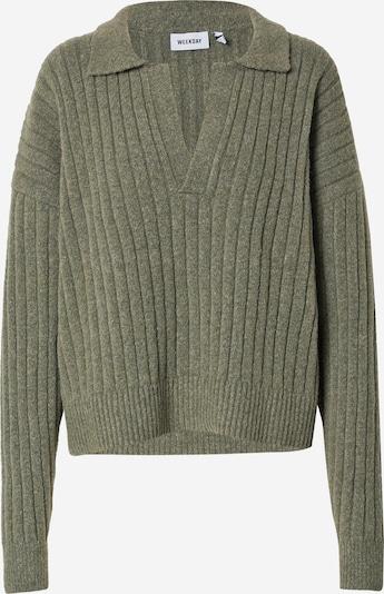 WEEKDAY Pullover 'Husky' in khaki, Produktansicht