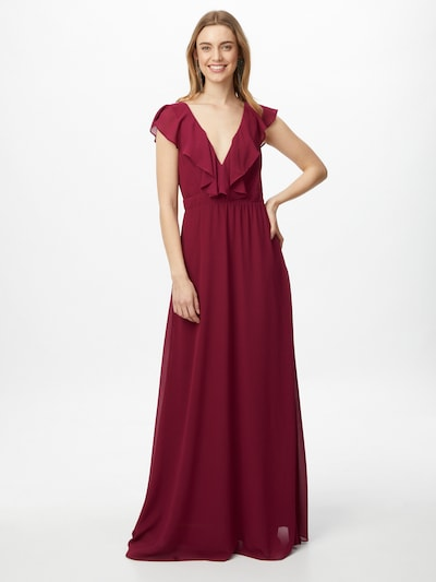TFNC Kleid 'JEANNY' in weinrot, Modelansicht