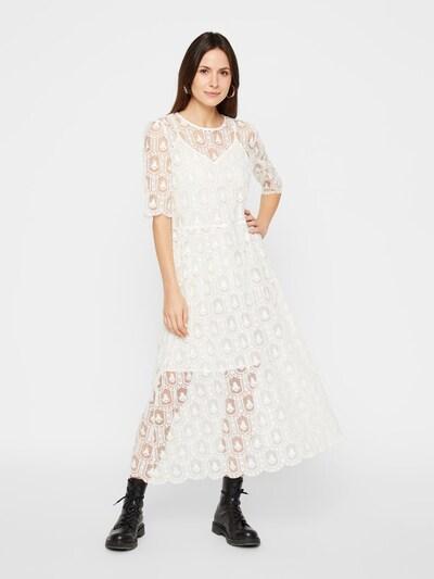 PIECES Kleid in weiß, Modelansicht