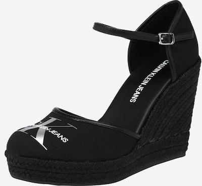 Calvin Klein Sandal i svart / silver, Produktvy