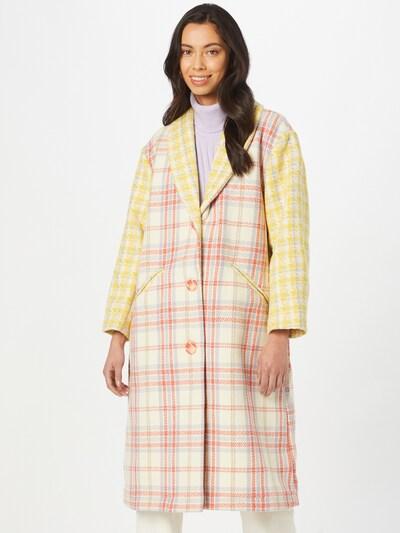 Lollys Laundry Mantel 'Billie' in creme / mischfarben, Modelansicht