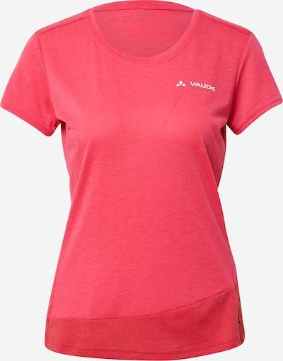Tricou funcțional 'Sveit' VAUDE pe roșu / roșu cranberry / alb, Vizualizare produs