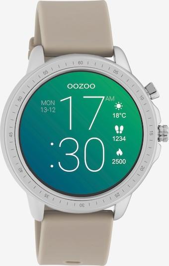 OOZOO Smartwatch in taupe / weiß: Frontalansicht