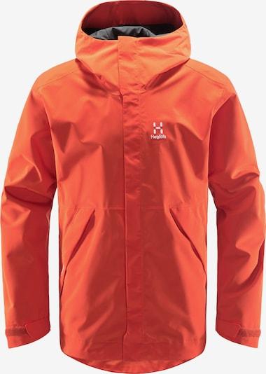 Haglöfs Veste outdoor 'Tjärn' en orange / blanc, Vue avec produit