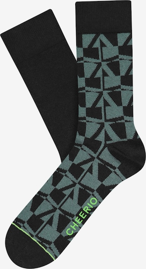 CHEERIO* Calcetines 'BLOCKS'N'BEAMS' en verde / negro, Vista del producto