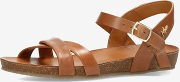 MEXX Sandale 'Graft' in Braun