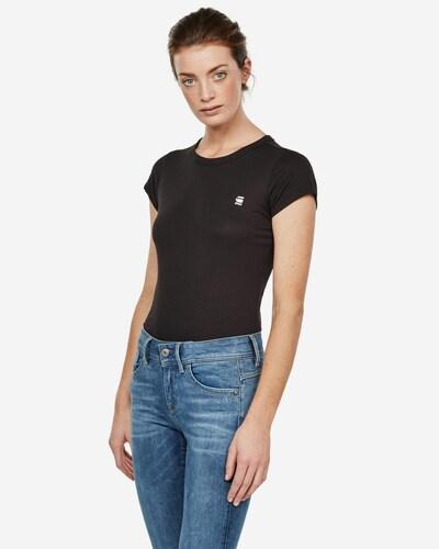 G-Star RAW Shirt 'Eyben' in schwarz / weiß: Frontalansicht