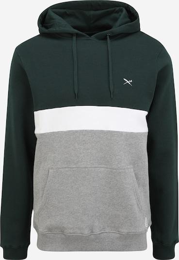 Iriedaily Sweatshirt 'Court' in grau / dunkelgrün / weiß, Produktansicht
