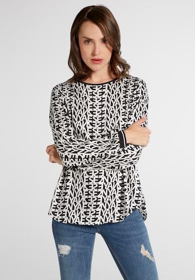 ETERNA Bluse in schwarz / weiß, Modelansicht