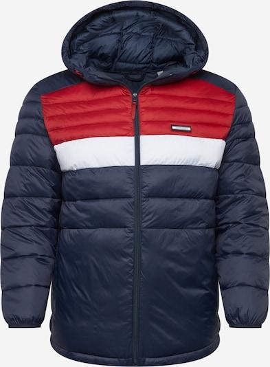 Jack & Jones Plus Between-Season Jacket in Dark blue / Red / White, Item view