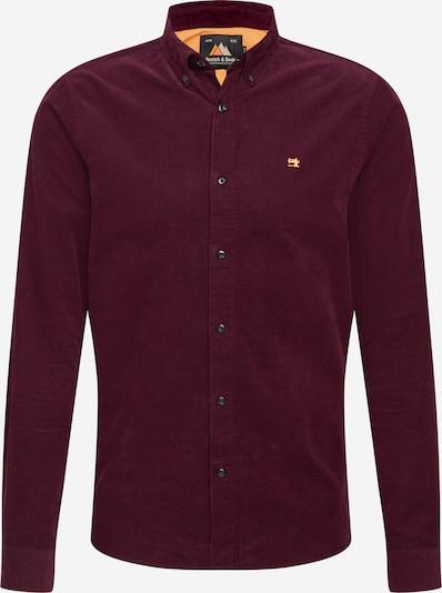 SCOTCH & SODA Overhemd in de kleur Bourgogne: Vooraanzicht