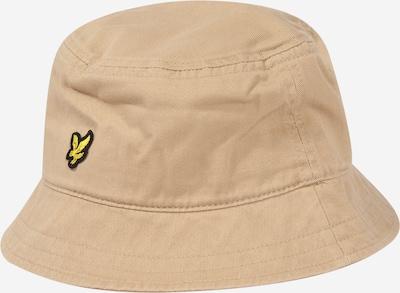 Lyle & Scott Chapeaux en crème / jaune / noir, Vue avec produit