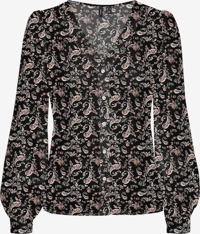 VERO MODA Blouse in de kleur Rosa / Oudroze / Zwart / Wit, Productweergave