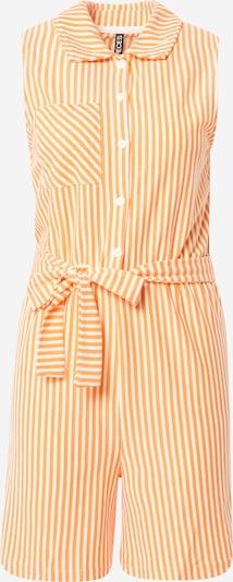 PIECES Jumpsuit 'TAMAR' in Light orange / White, Item view