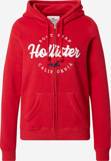 HOLLISTER Sweat jacket in red / white, Item view
