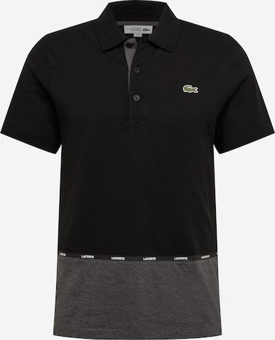 LACOSTE T-Shirt en gris chiné / noir / blanc, Vue avec produit