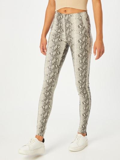 OBJECT Leggings 'Belle' in de kleur Grijs / Lichtgrijs / Zwart, Modelweergave