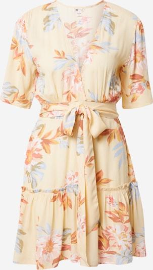 BILLABONG Лятна рокла 'ONE AND ONLY' в светлосиньо / светложълто / оранжево / мръсно бяло, Преглед на продукта