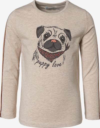 MINYMO Langarmshirt in beigemeliert / dunkelgrau / lachs / rot, Produktansicht