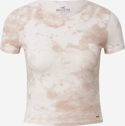 HOLLISTER Tričko - béžová / biela, Produkt