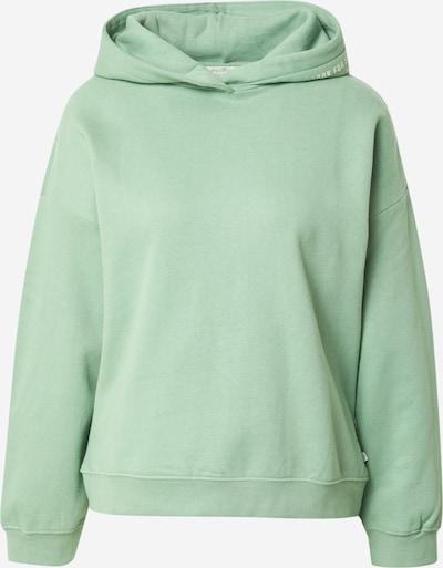 TOM TAILOR DENIM Sweatshirt in hellgrün / weiß, Produktansicht