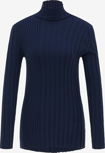 DreiMaster Klassik Pullover in marine, Produktansicht