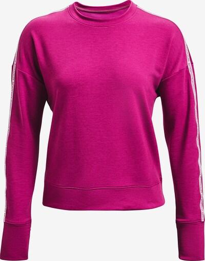UNDER ARMOUR Functioneel shirt 'Rival Terry' in de kleur Neonroze / Wit, Productweergave