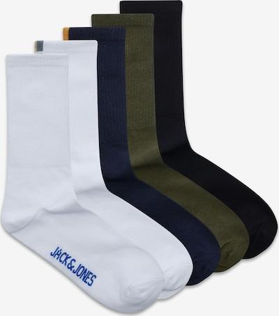 JACK & JONES Ponožky - námornícka modrá / tmavozelená / čierna / biela, Produkt