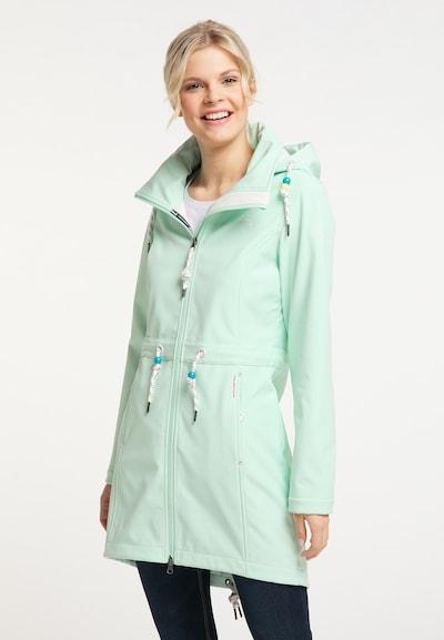 Schmuddelwedda Functionele mantel in de kleur Mintgroen: Vooraanzicht