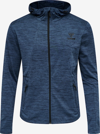 Hummel Sportsweatjacke in taubenblau / schwarz, Produktansicht