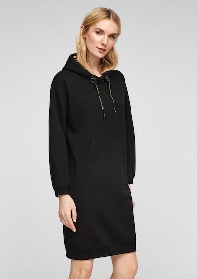 s.Oliver Sweatkleid in schwarz, Modelansicht