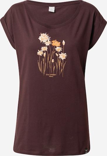 Iriedaily T-shirt 'Cornflower' i aubergine / ljusorange / mörkorange / vit, Produktvy