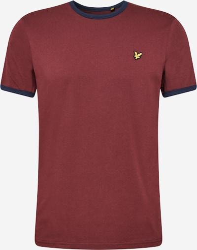 Lyle & Scott Shirt 'Ringer' in de kleur Donkerblauw / Goudgeel / Pastelrood, Productweergave