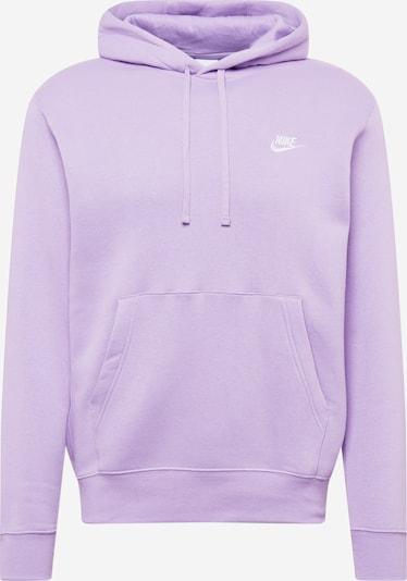 Bluză de molton Nike Sportswear pe mov deschis / alb, Vizualizare produs