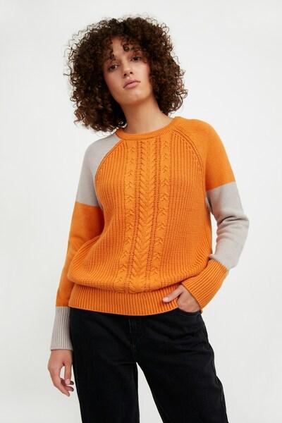Finn Flare Pullover in orange, Modelansicht