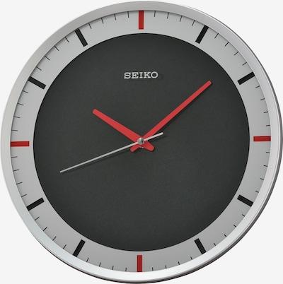SEIKO Wanduhr in grau / rot / schwarz / silber, Produktansicht