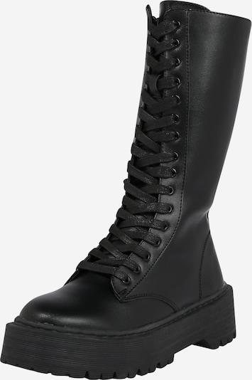 Public Desire Čizme sa vezicama 'Kendall' u crna, Pregled proizvoda