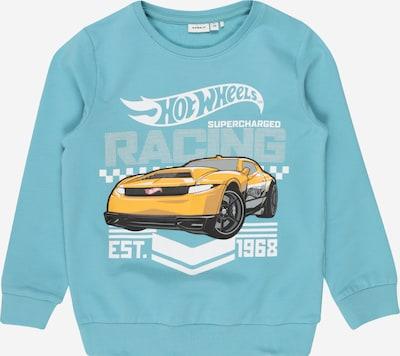 NAME IT Sweatshirt 'Hotwheels Stevo' in hellblau / gelb / schwarz / weiß, Produktansicht