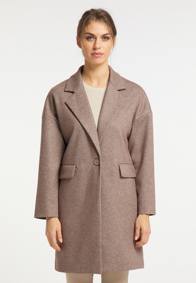 usha BLACK LABEL Between-Seasons Coat in mottled brown, View model