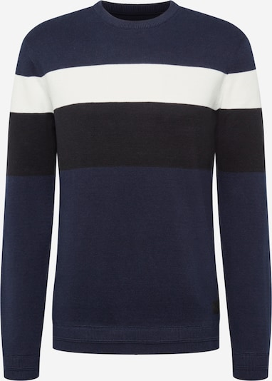 Only & Sons Pull-over en bleu marine / noir / blanc, Vue avec produit