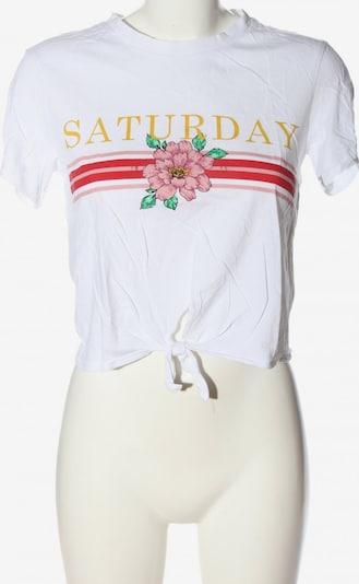 H&M Cropped Shirt in S in pink / rot / weiß, Produktansicht