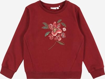 NAME IT Sweatshirt 'ROFFI' in mischfarben / dunkelrot, Produktansicht
