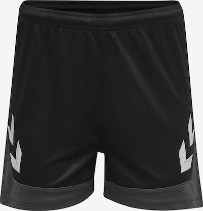 Hummel Sporthose 'Poly' in dunkelgrau / schwarz / weiß, Produktansicht