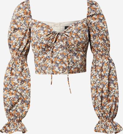 Bardot Bluse 'CLARISSA' in beige / hellblau / braun / orange, Produktansicht