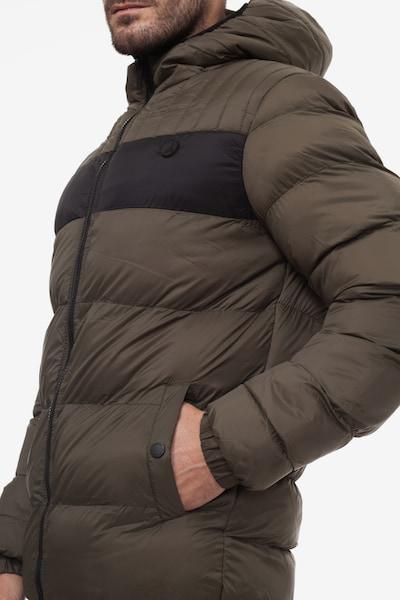 Kangol Steppjacke 'LENNON MENS JACKET' in grün / khaki / schwarz, Produktansicht