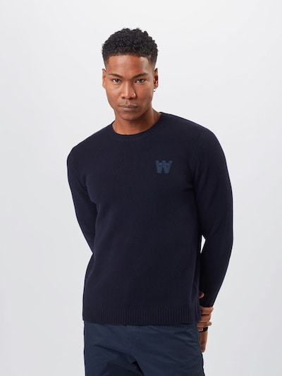 WOOD WOOD Sweater 'Kevin' in dark blue: Frontal view
